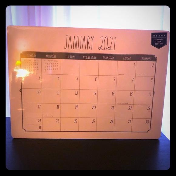 Rae Dunn desk calendar